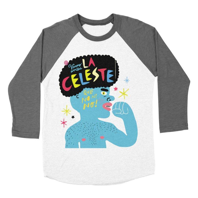 FAN ZONE / FAN CELESTE! Women's Baseball Triblend Longsleeve T-Shirt by Mr.ED'store