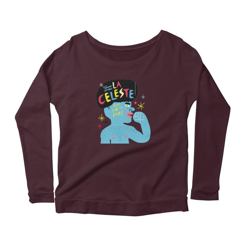 FAN ZONE / FAN CELESTE! Women's Scoop Neck Longsleeve T-Shirt by Mr.ED'store