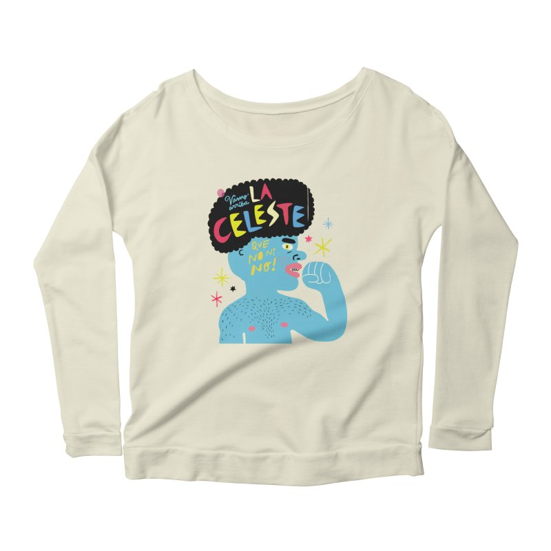 FAN ZONE / FAN CELESTE! Women's Scoop Neck Longsleeve T-Shirt by Mr.ED'store