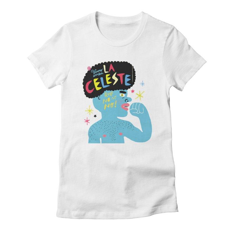 FAN ZONE / FAN CELESTE! Women's Fitted T-Shirt by Mr.ED'store