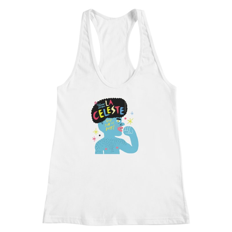 FAN ZONE / FAN CELESTE! Women's Racerback Tank by Mr.ED'store