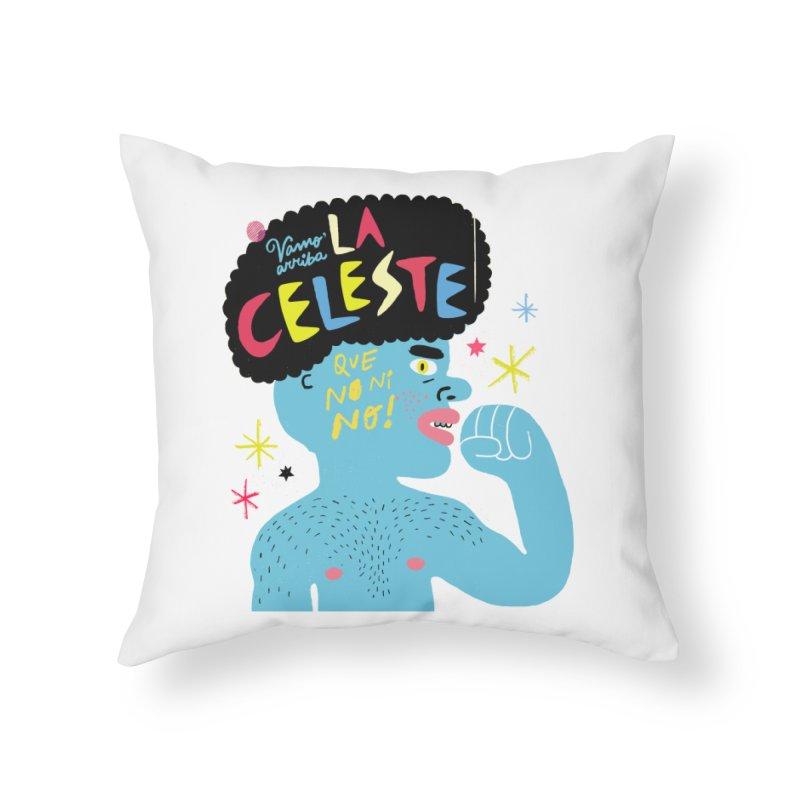 FAN ZONE / FAN CELESTE! Home Throw Pillow by Mr.ED'store