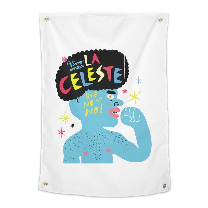 FAN ZONE / FAN CELESTE! Home Tapestry by Mr.ED'store