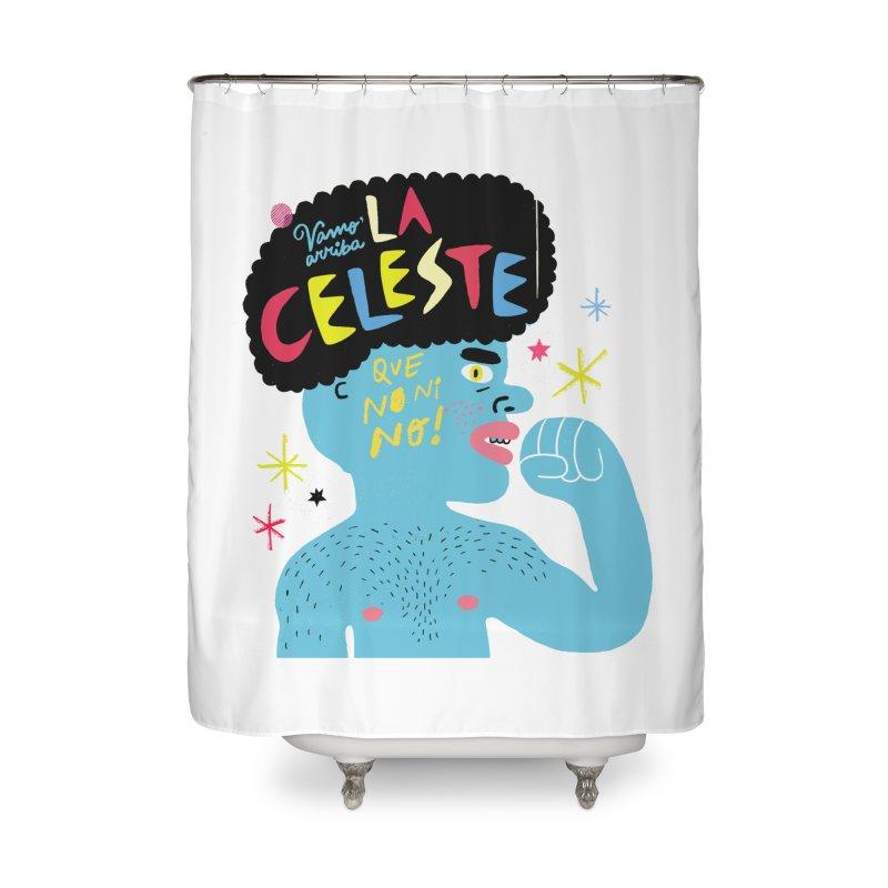 FAN ZONE / FAN CELESTE! Home Shower Curtain by Mr.ED'store