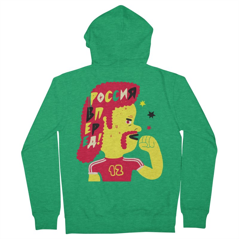 FAN ZONE / RUSSIA! Men's French Terry Zip-Up Hoody by Mr.ED'store