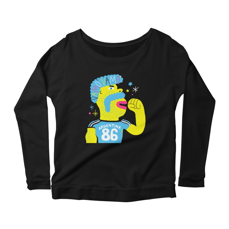 FAN ZONE / ARGENTINA! Women's Scoop Neck Longsleeve T-Shirt by Mr.ED'store