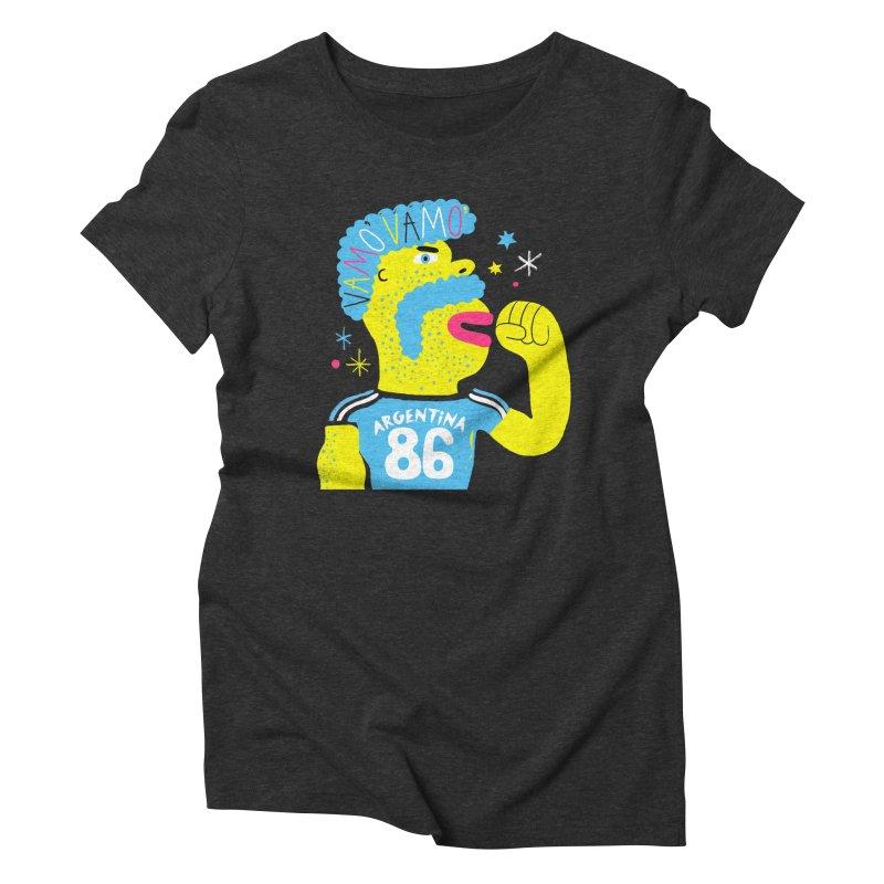 FAN ZONE / ARGENTINA! Women's Triblend T-Shirt by Mr.ED'store