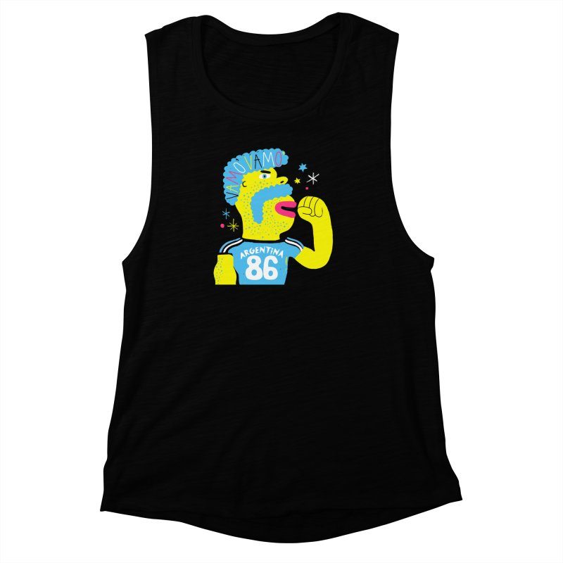 FAN ZONE / ARGENTINA! Women's Muscle Tank by Mr.ED'store