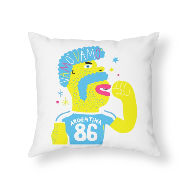 FAN ZONE / ARGENTINA! Home Throw Pillow by Mr.ED'store
