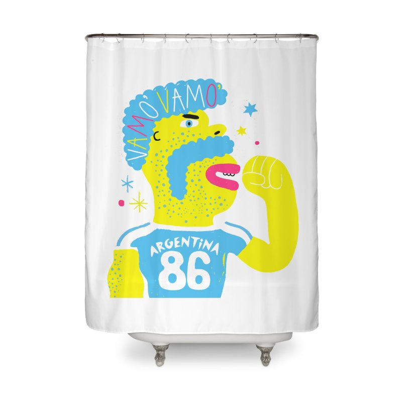 FAN ZONE / ARGENTINA! Home Shower Curtain by Mr.ED'store