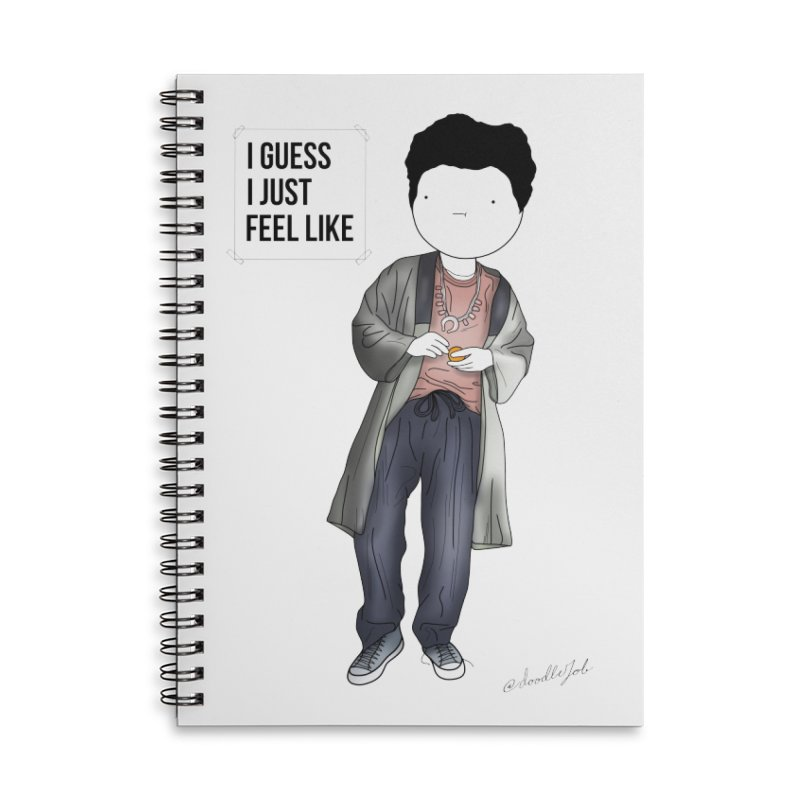 Doddle job I guess I just feel like Accessories Lined Spiral Notebook by Misterdressup