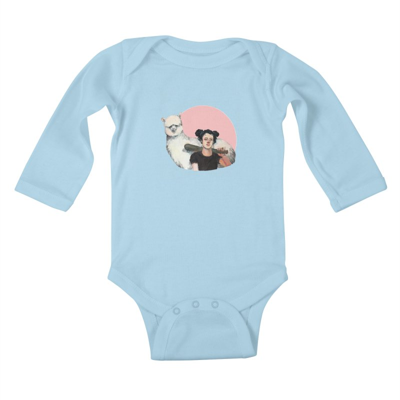 rebecca vollmar partners-in-crime Kids Baby Longsleeve Bodysuit by Misterdressup