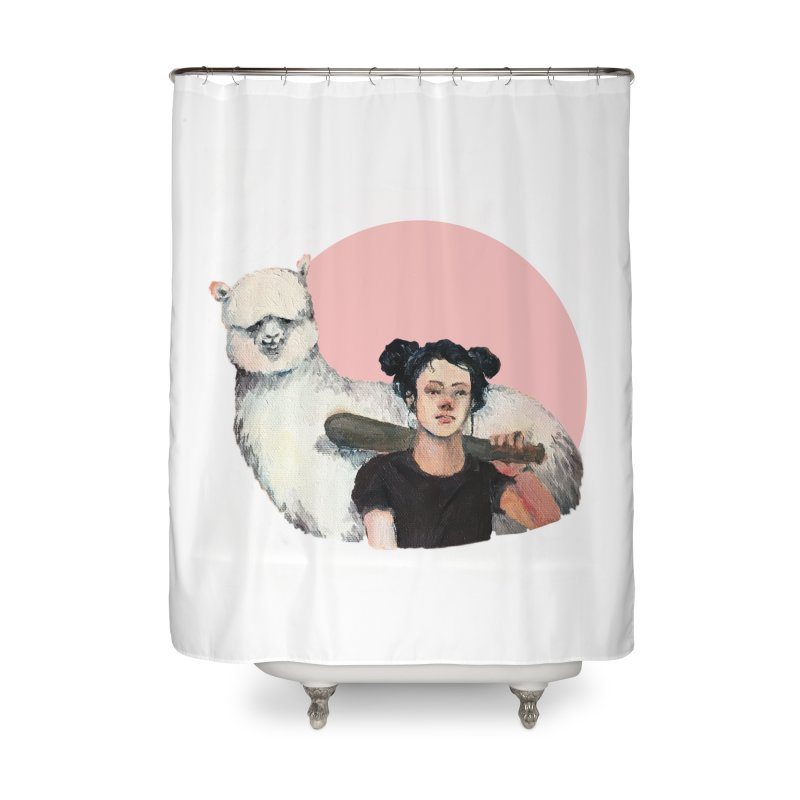 rebecca vollmar partners-in-crime Home Shower Curtain by Misterdressup