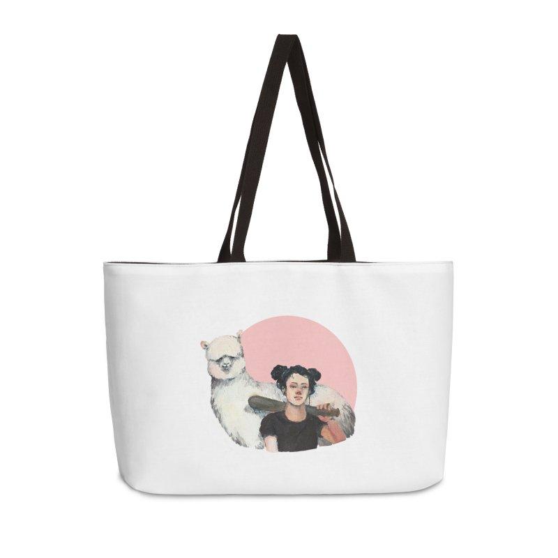 rebecca vollmar partners-in-crime Accessories Weekender Bag Bag by Misterdressup