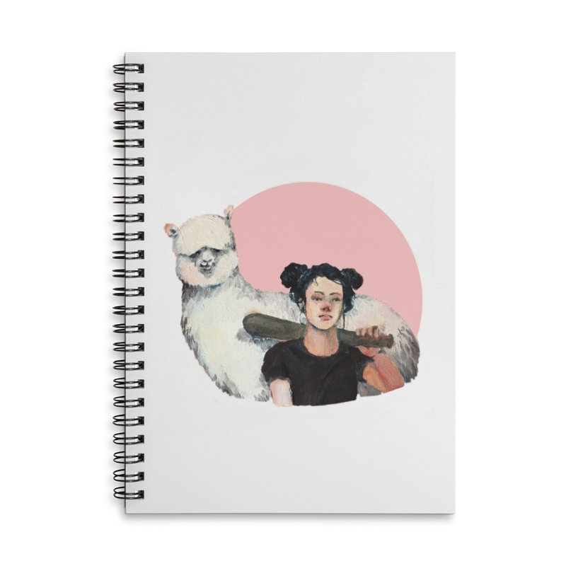rebecca vollmar partners-in-crime Accessories Lined Spiral Notebook by Misterdressup