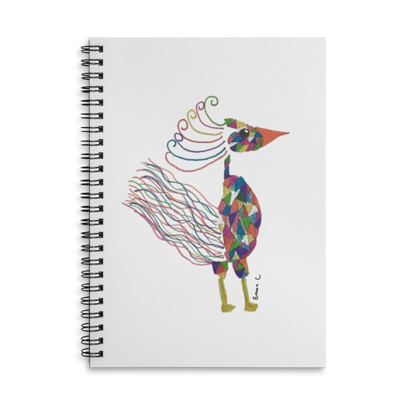 Emma Cedillo Lazcano Accessories Lined Spiral Notebook by Misterdressup