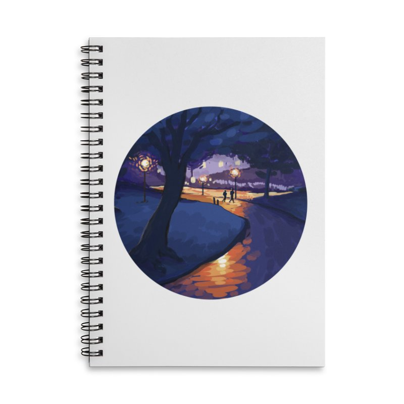 Agnes Guttormsgaard Accessories Lined Spiral Notebook by Misterdressup