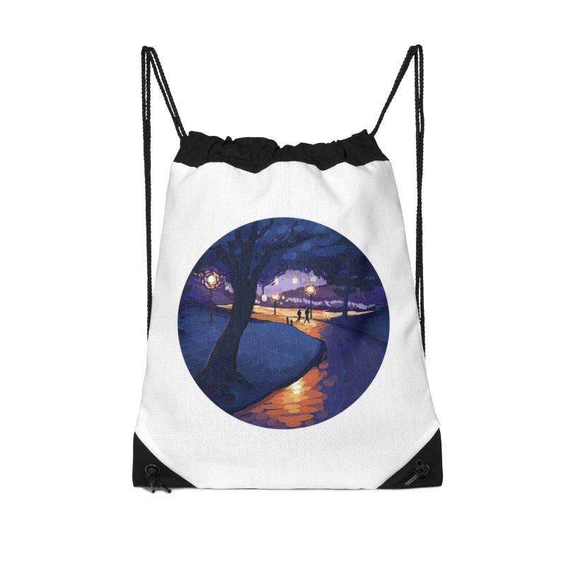 Agnes Guttormsgaard Accessories Drawstring Bag Bag by Misterdressup