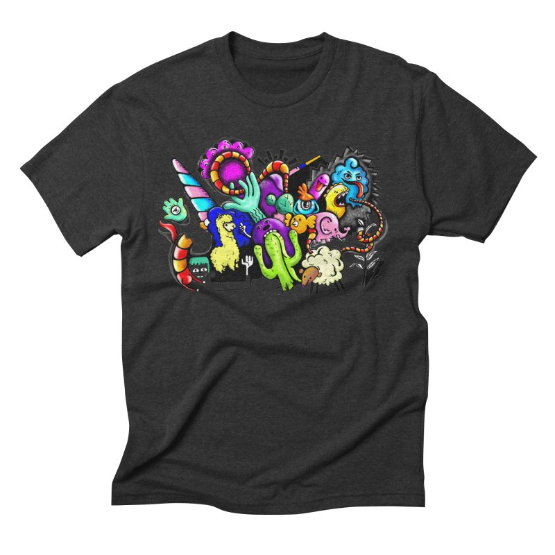 Raul Kuvischansky Men's Triblend T-Shirt by Misterdressup