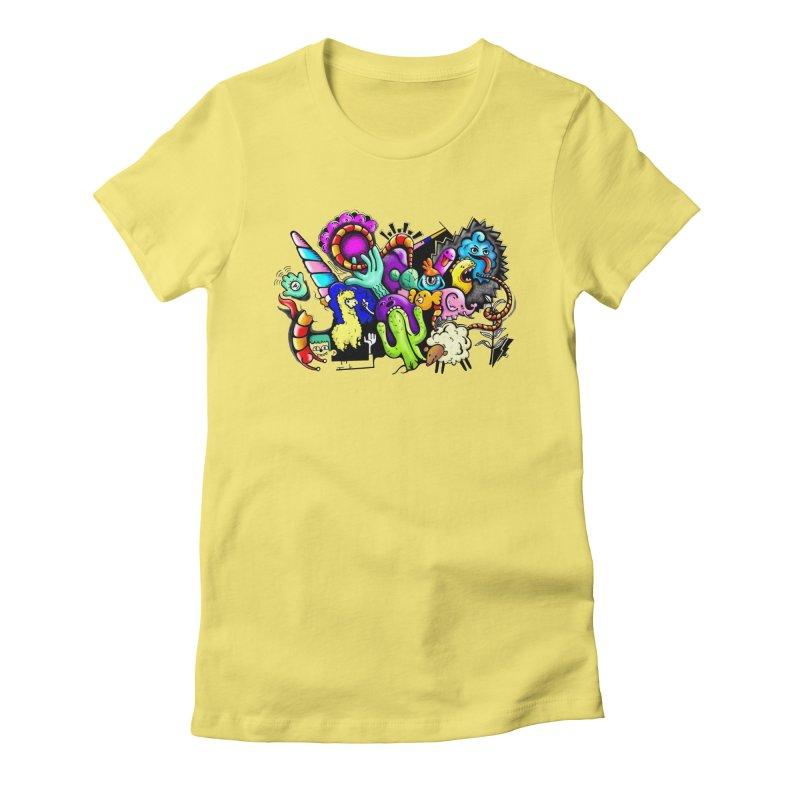 Raul Kuvischansky Women's Fitted T-Shirt by Misterdressup