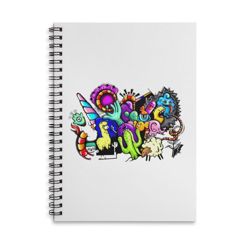 Raul Kuvischansky Accessories Lined Spiral Notebook by Misterdressup