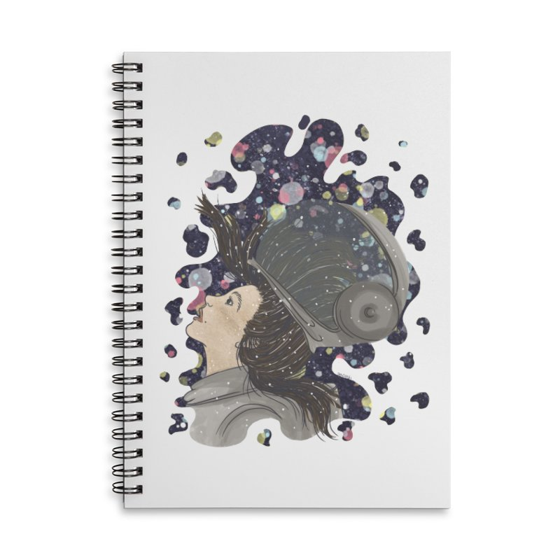 Francisca Cárcamo Accessories Lined Spiral Notebook by Misterdressup