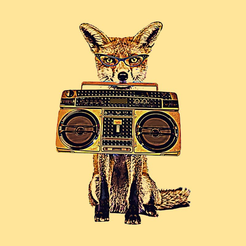 Boom Box Fox Men's T-Shirt by Misterdressup