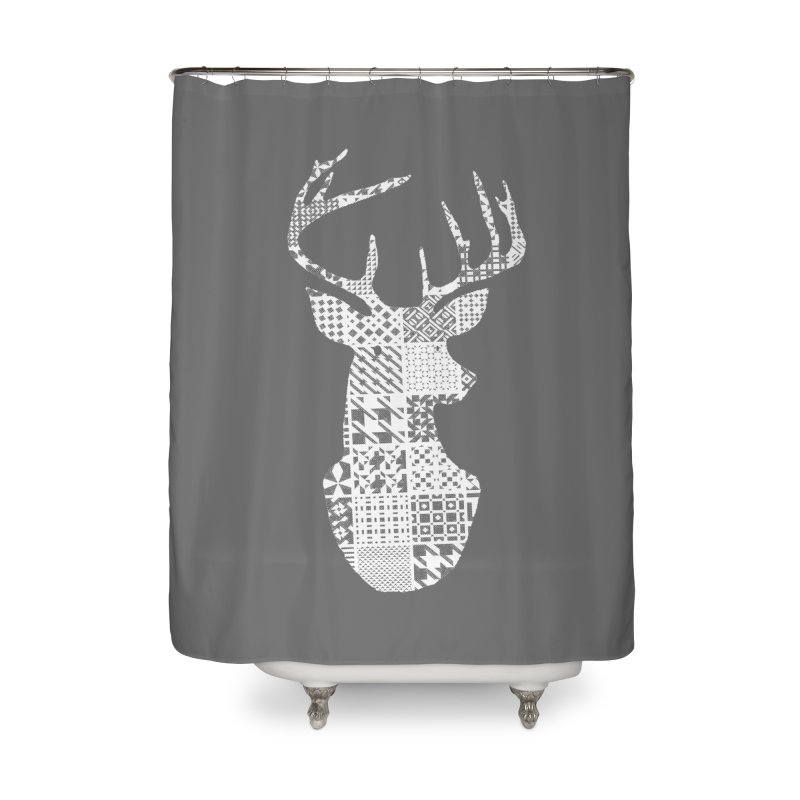 Deer Pattern in Shower Curtain by Misterdressup