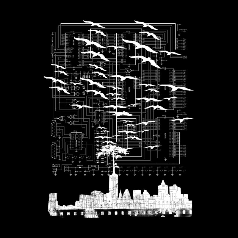 Electri-City Home Mounted Aluminum Print by Misterdressup