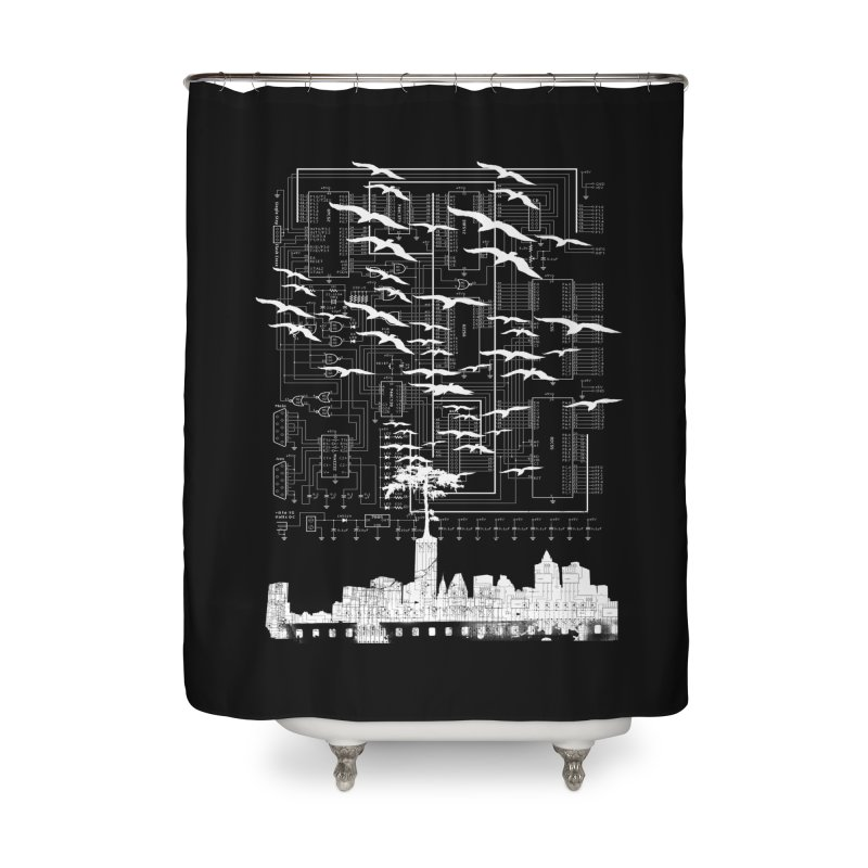Electri-City in Shower Curtain by Misterdressup