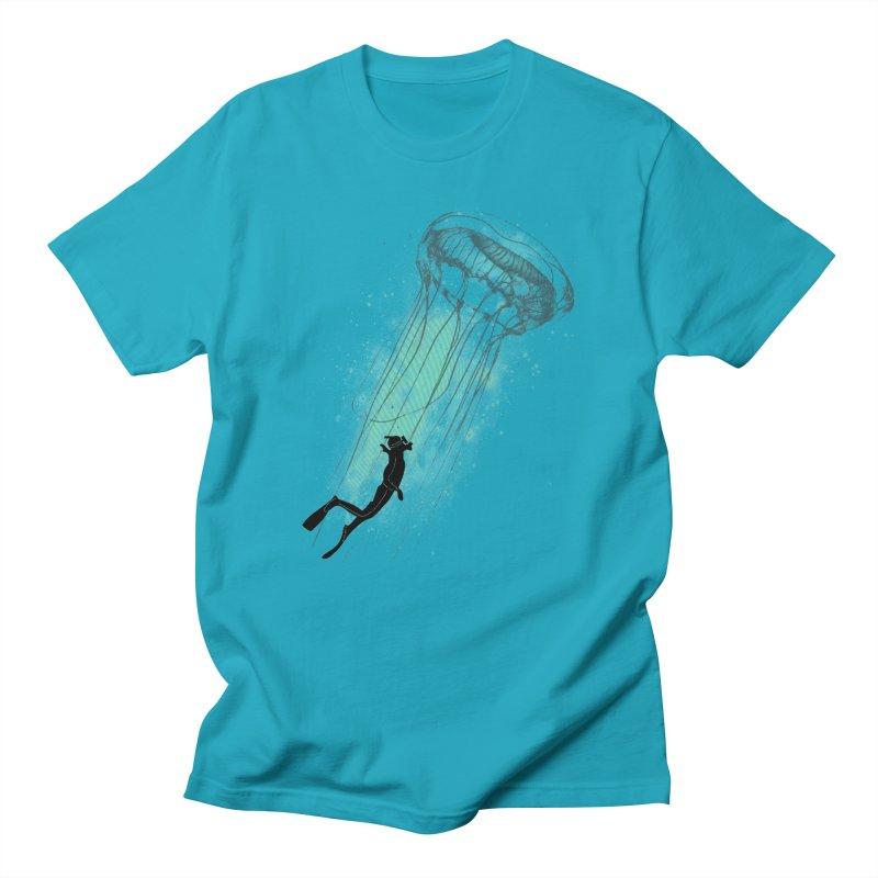 Strange Attractions in Men's Regular T-Shirt Cyan by Misterdressup