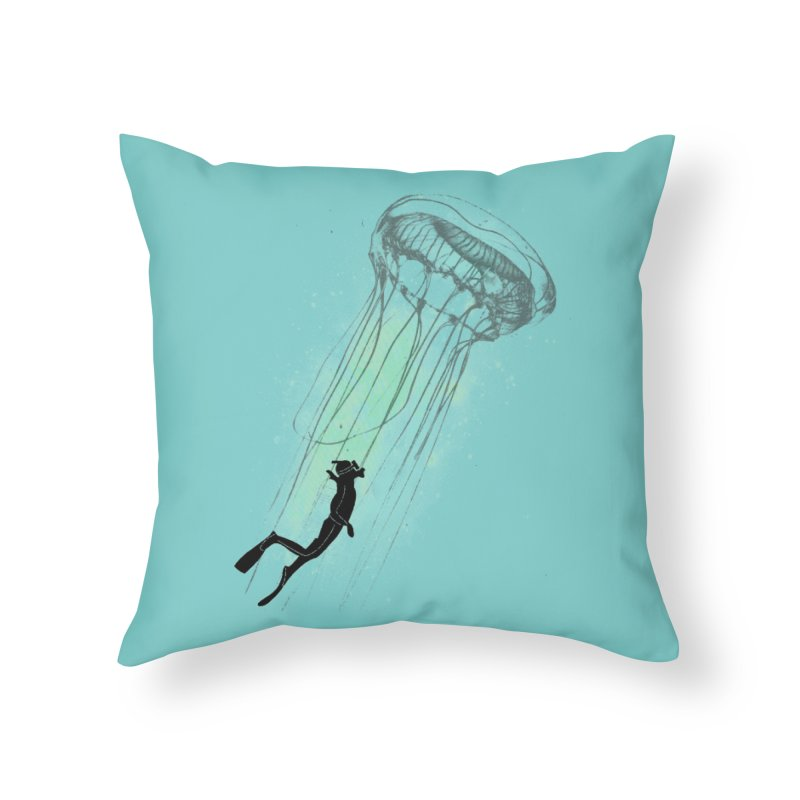 Strange Attractions in Throw Pillow by Misterdressup