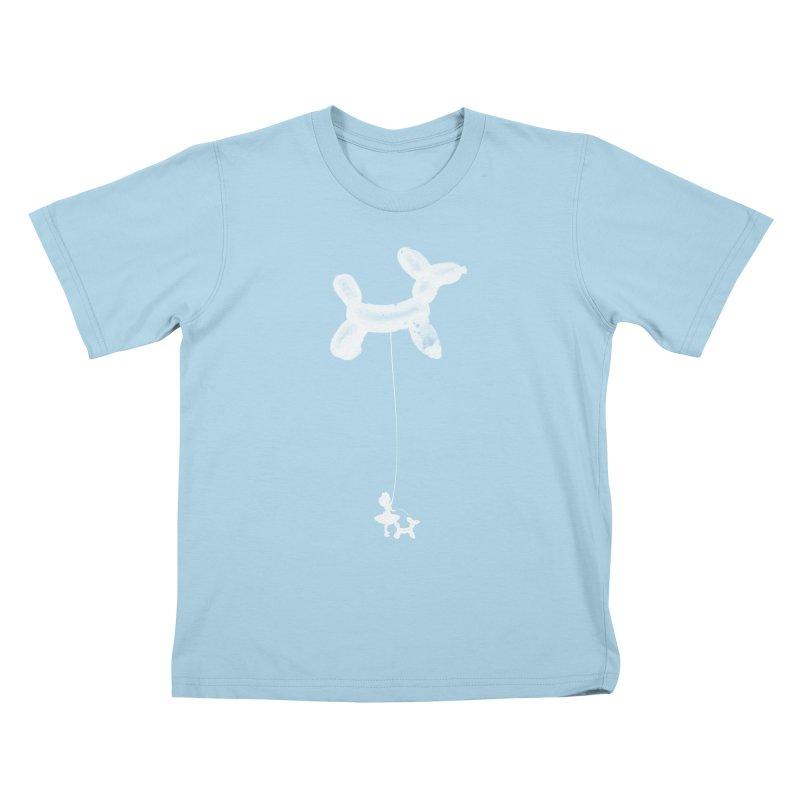 Fancy Balloon in Kids T-Shirt Powder Blue by Misterdressup