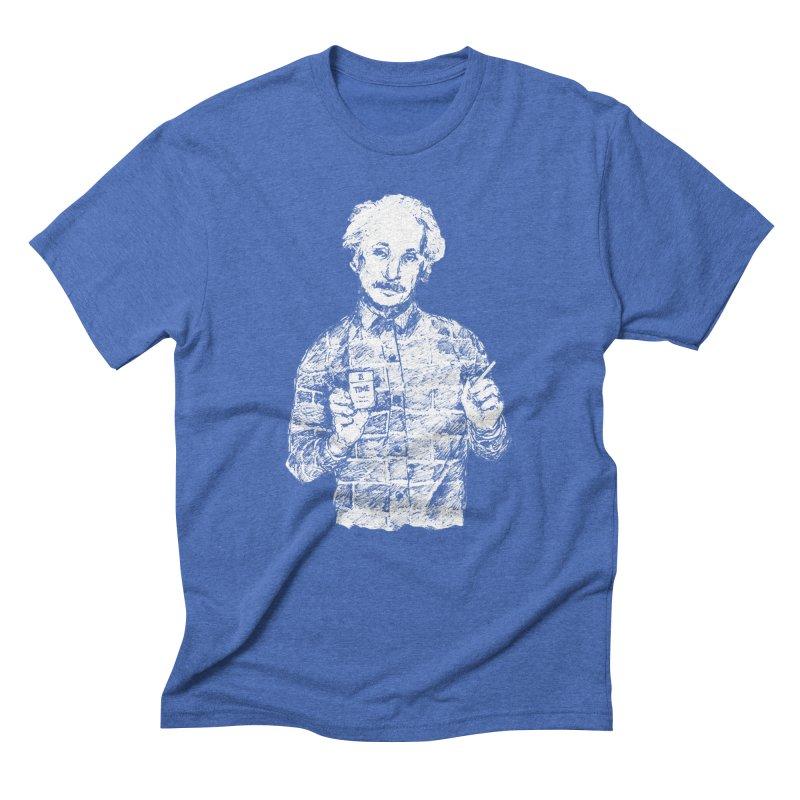 Einstime in Men's Triblend T-Shirt Blue Triblend by Misterdressup