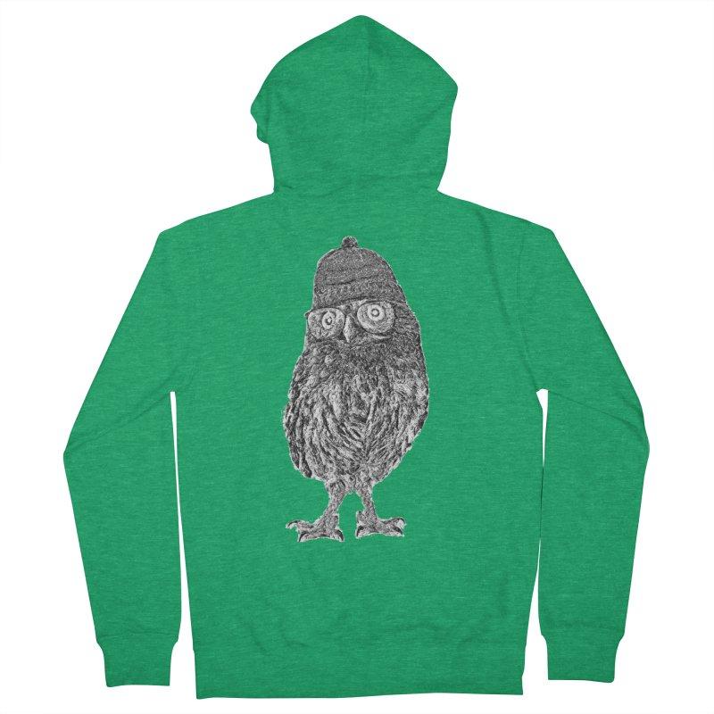 Geek Owl Men's Zip-Up Hoody by Misterdressup