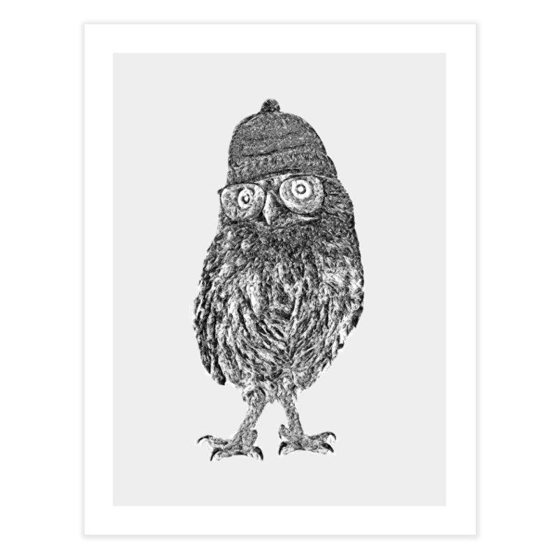 Geek Owl Home Fine Art Print by Misterdressup