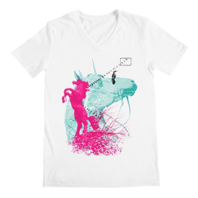 Unicorn Dream Men's V-Neck by Misterdressup