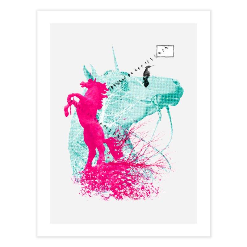 Unicorn Dream Home Fine Art Print by Misterdressup