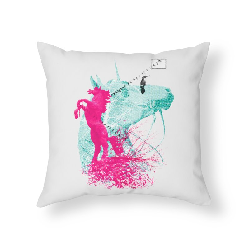 Unicorn Dream Home Throw Pillow by Misterdressup