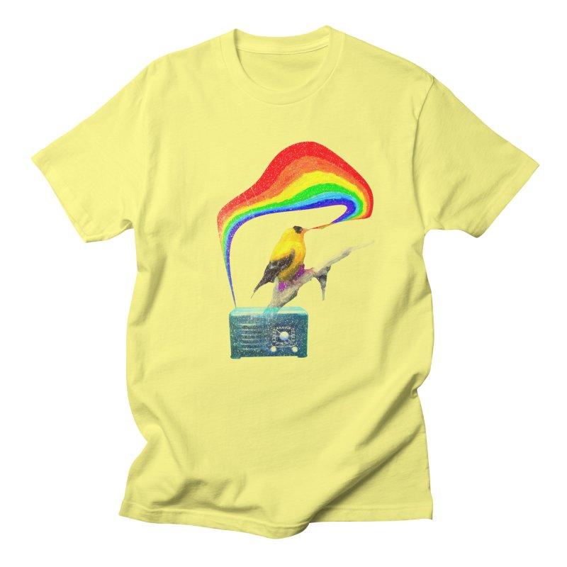 Bird Radio in Men's T-Shirt Lemon by Misterdressup