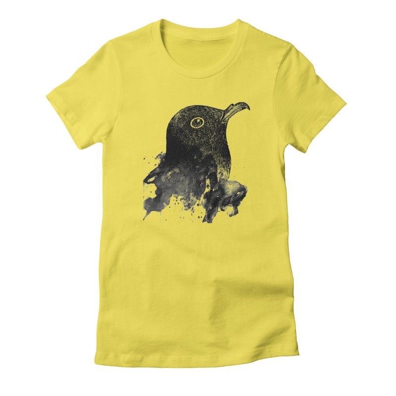 B-Bird in Women's Fitted T-Shirt Vibrant Yellow by Misterdressup