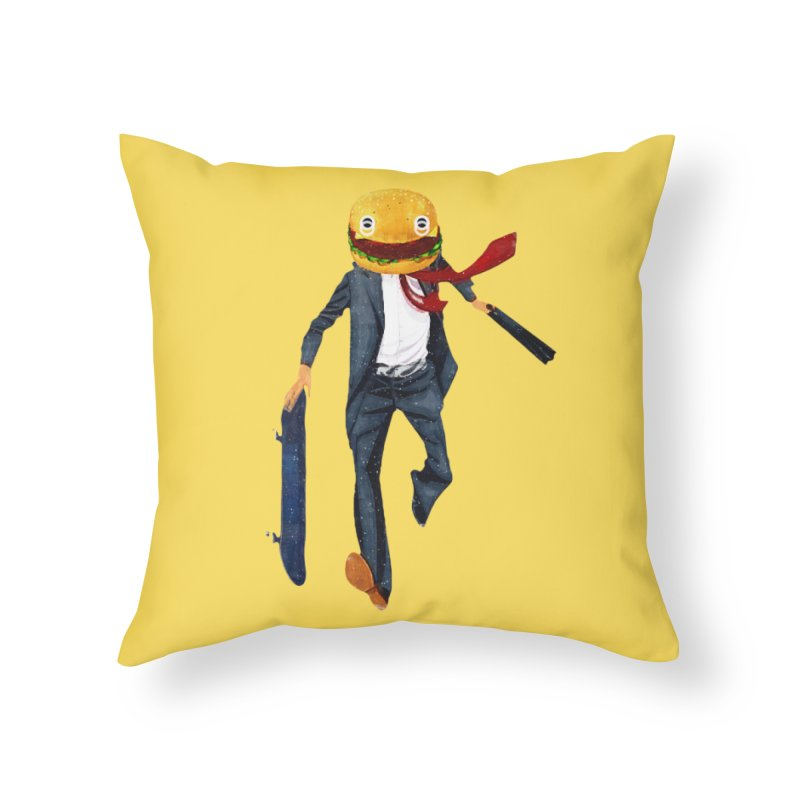 Skateburger in Throw Pillow by Misterdressup