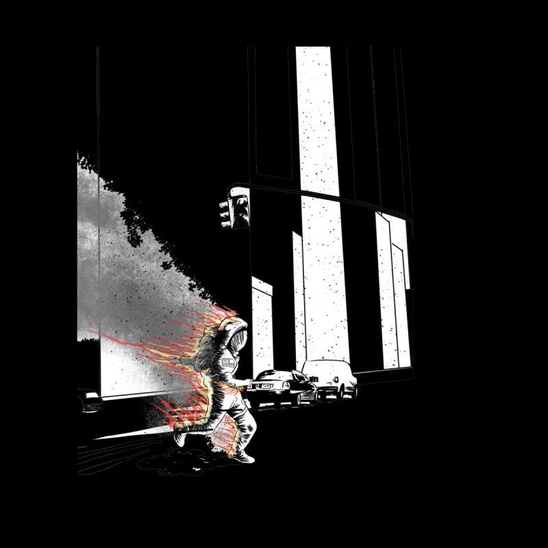 Burning Astronaut Women's Longsleeve T-Shirt by Misterdressup
