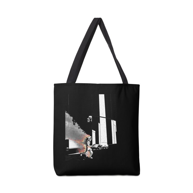 Burning Astronaut in Tote Bag by Misterdressup