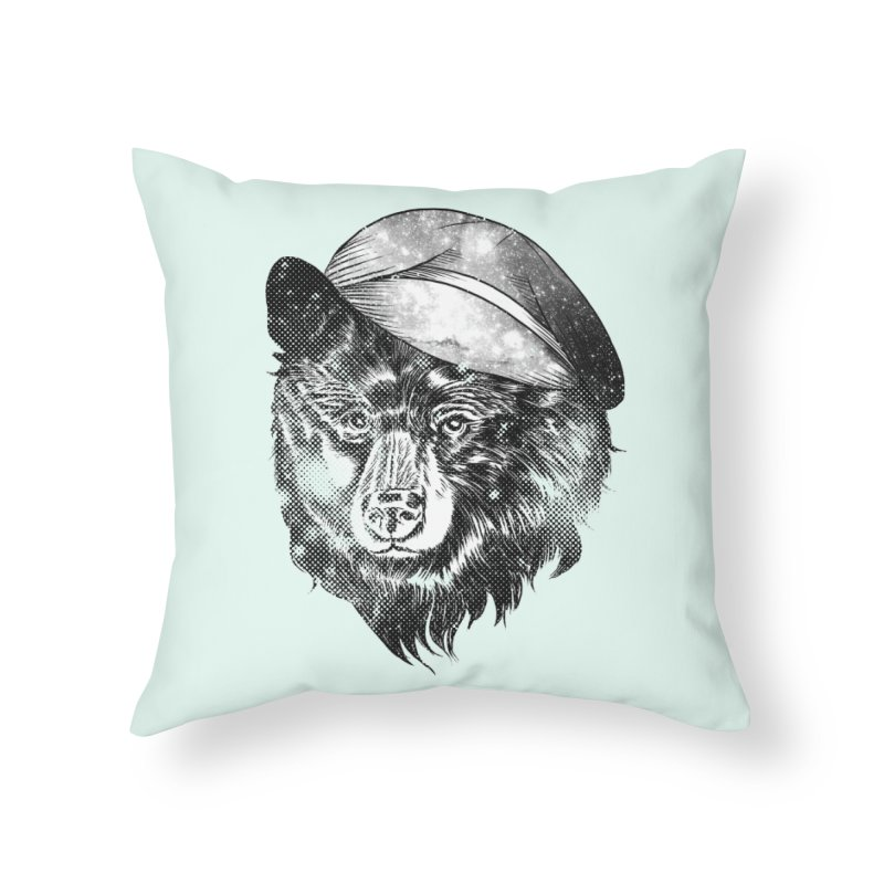 Cosmic Bear Hat in Throw Pillow by Misterdressup