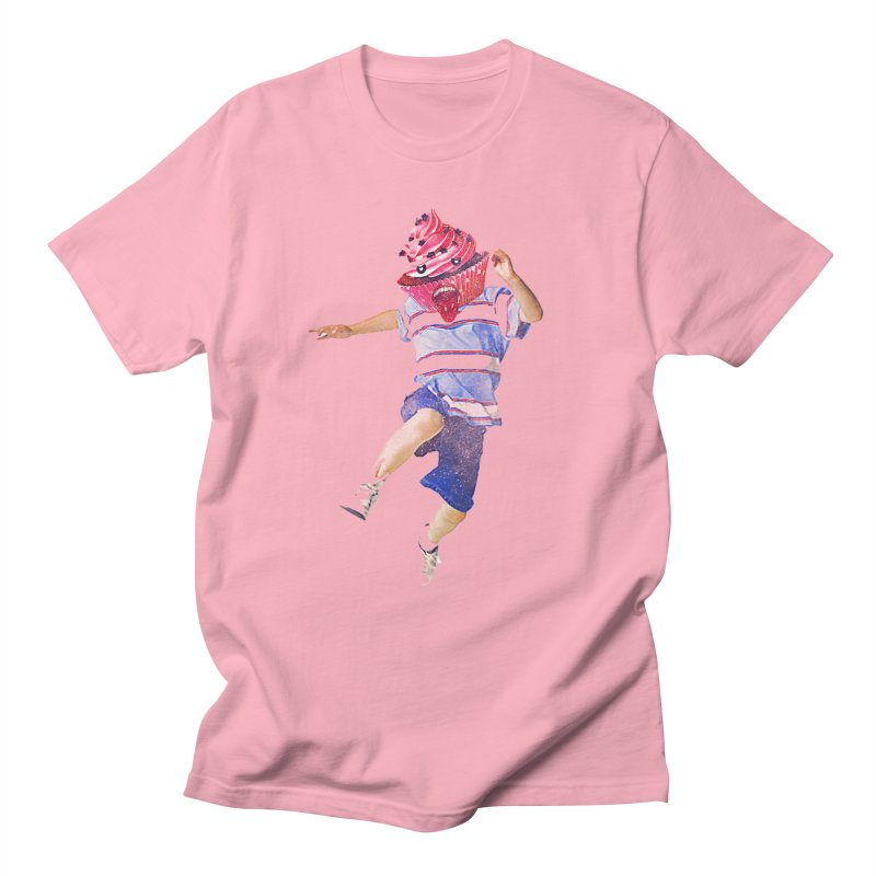 Cupcake Boy in Men's T-Shirt Light Pink by Misterdressup