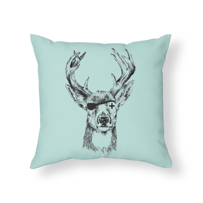 Deer Pirate in Throw Pillow by Misterdressup