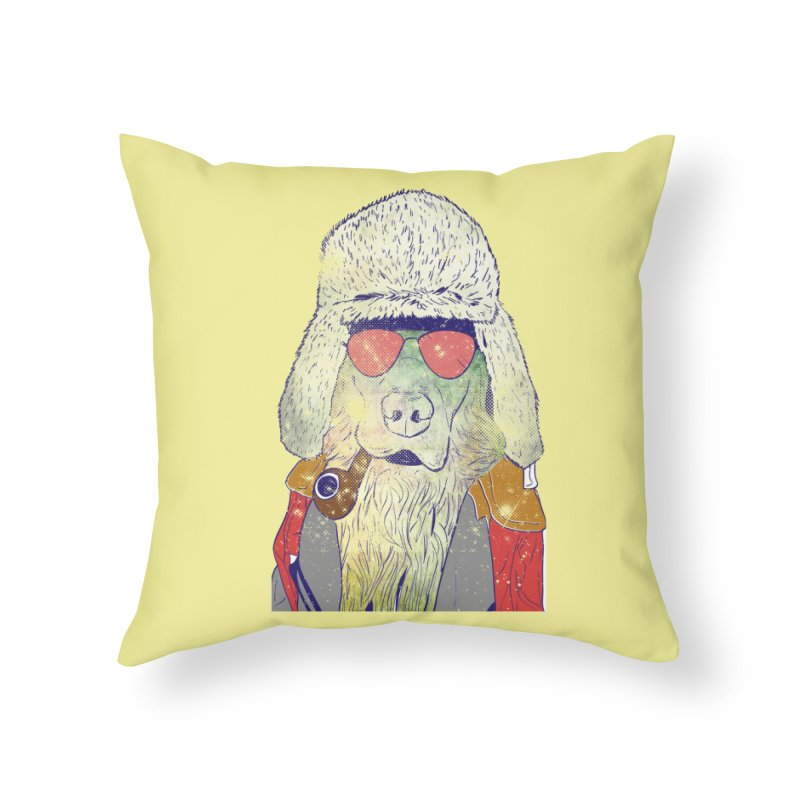 Dog's Life in Throw Pillow by Misterdressup