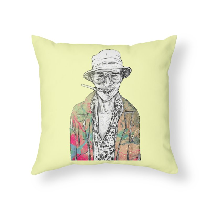 Fear and Loathing in Throw Pillow by Misterdressup