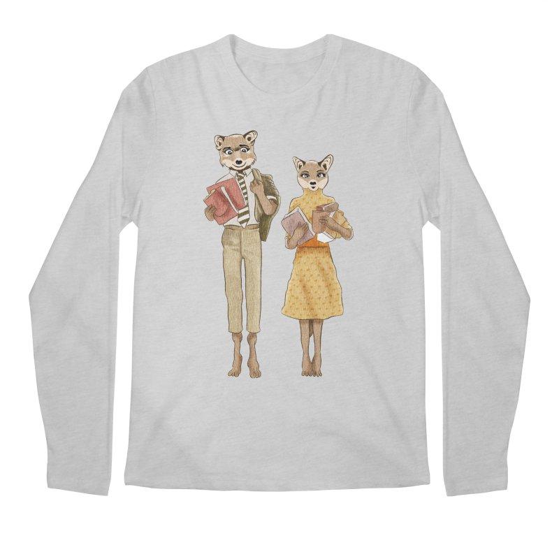 Fox Love Men's Longsleeve T-Shirt by Misterdressup